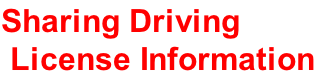 Sharing Driving  License Information
